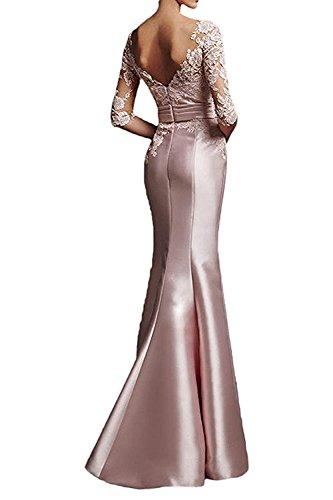 Kleider Meerjungfrau Etuikleider Dunkel La Formal Weiß Lang Trumpet mia Abendkleider Braut Rosa Spitze Brautmutterkleider Damen fqgwz1qx