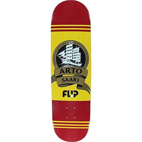 地域の誓約着替えるFlip Saari Mustard スケートボードデッキのみ - 8.5インチ - (無料の1インチ金具セット付き)