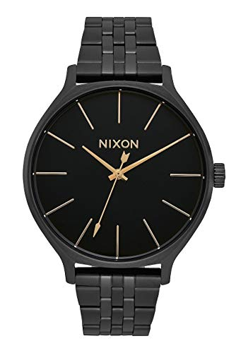 (Nixon Clique Women's All Black Fashion-Forward Jewelry-Style Watch (38mm. Black Face/Black Stainless Steel)