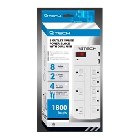 cj-tech-531-8-outlet-surge-power-block-with-dual-usb-white