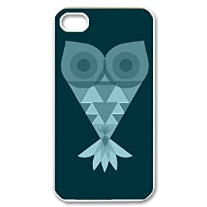 Newly Fashion Brand New White and Black Lovely Owl Plastic Cases for iPhone4 iPhone4S by supermalls