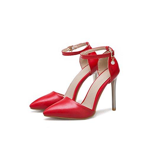 Red 35 Donna con Rosso Zeppa Sandali BalaMasa Y74n8a6qX