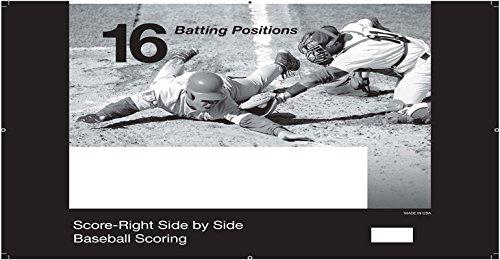 Score Right Side by Side Scorebook 16 Position Side by Side Scorebook (37 Games), White, One ()