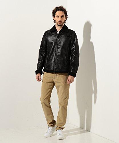 Mens 6YZB20ZN64Z Black Eco A Outerwear X Armani Coat Exchange Jacket Shearling Down qTwgItB