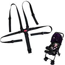 Bestgle Infant 5 Point Adjustable Harness Kid Car Safety Seat Belt Baby Highchair Strap Child Stroller Strap for High Chair