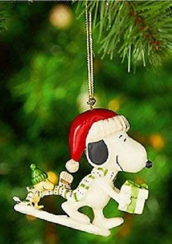 Snoopy And Woodstock Christmas Ornaments.Lenox Snoopy S Holiday Gift Porcelain Christmas Ornament New In Box Snoopy And Woodstock Peanuts