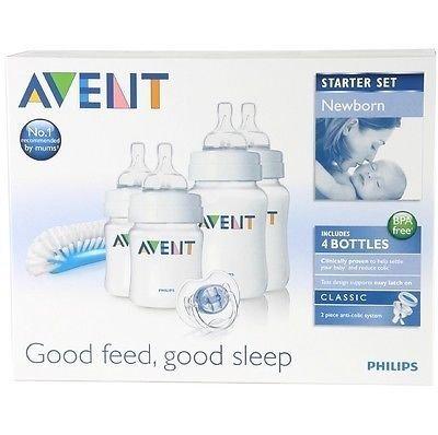 Philips Avent Scd271/00 Newborn Baby Bottle Starter Set / Kit / Pack Brand New Good Gift for Mom and Baby Fast Shipping Ship Worldwide