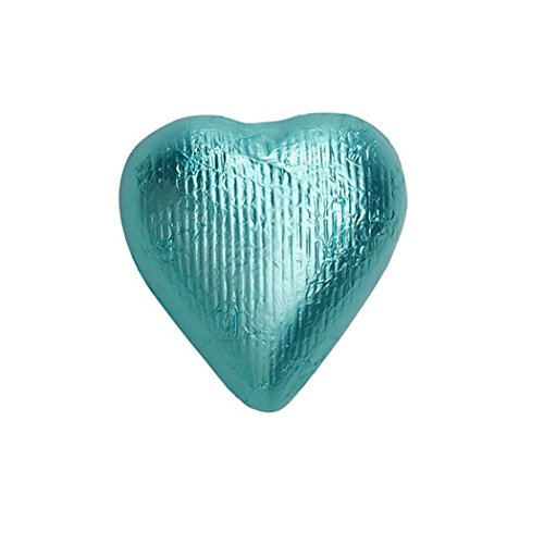 Price comparison product image Solid Milk Chocolate Foiled Hearts Tiffany Blue 1lb bag