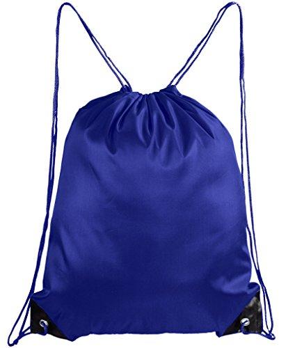 Mato & Hash Basic Drawstring Tote Cinch Sack Promotional Backpack Bag - 30PK Royal CA2500 - 2