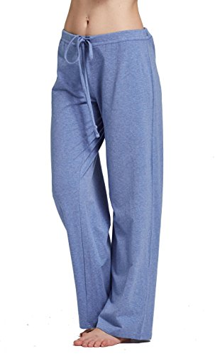 CYZ Women's Basic Stretch Cotton Knit Pajama Sleep Lounge Pants-GreyMelange-XL