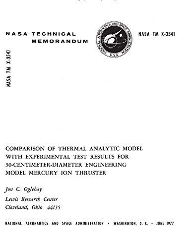 (Comparison of thermal analytic model with experimental test results for 30-sentimeter-diameter engineering model mercury ion thruster )