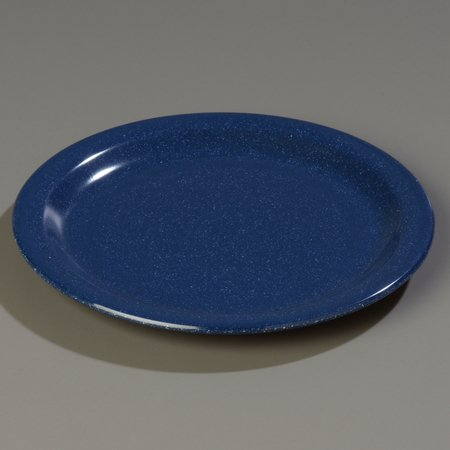 Carlisle 4350335 Dallas Ware Melamine Salad Plate, 7.19'' Diameter x 0.74'' Height, Café Blue (Case of 48) by Carlisle