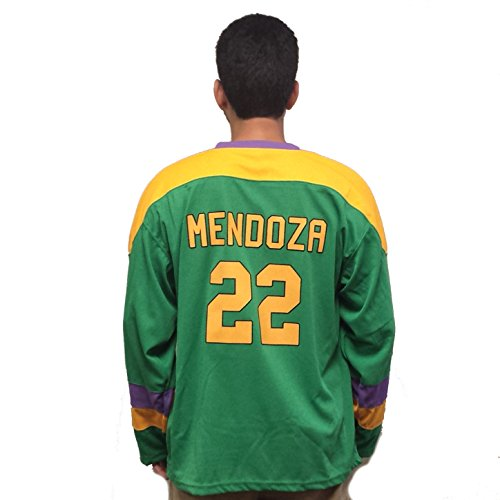 Luis Mendoza#22 Mighty Ducks Movie Herren Hockey Jersey 90's Kostüm für Erwachsene