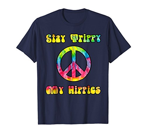 (Vintage Tie Dye Stay Trippy My Hippies Peace Sign T-Shirt )