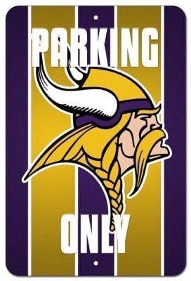 Sign Vikings Minnesota Parking (Minnesota Vikings Vanity Parking Only Street Sign 8x12)