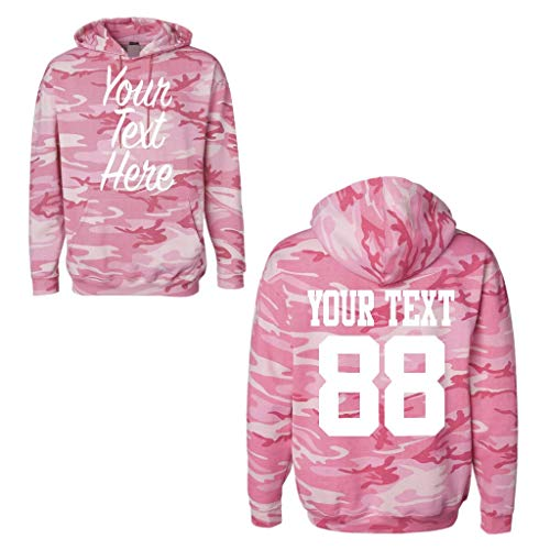 Custom Women's 2 Sided Camouflage Hoodies, Create Your own Hoodie, Personalized