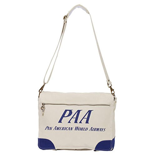 Messenger Hombres 100 Messenger Bolsas Pan azul Beige Am Cotton CwzRxR5Tq