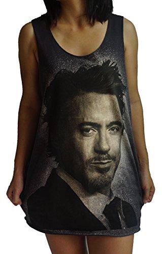 トラック組政令Robert Downey Jr Vest Tank-Top Singlet Sleeveless T-Shirt