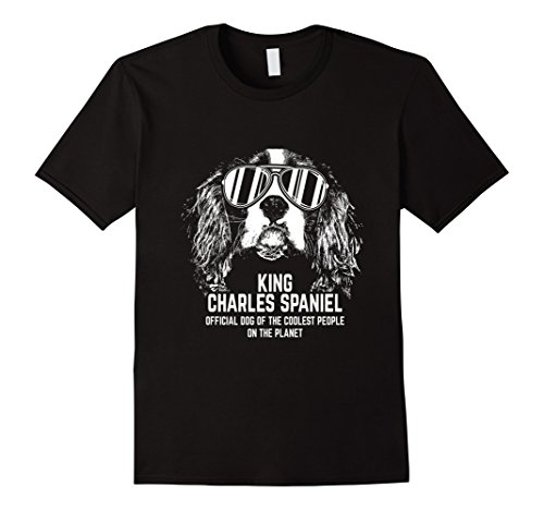 Mens King Charles Spaniel Official Dog Funny Shirt Large Black