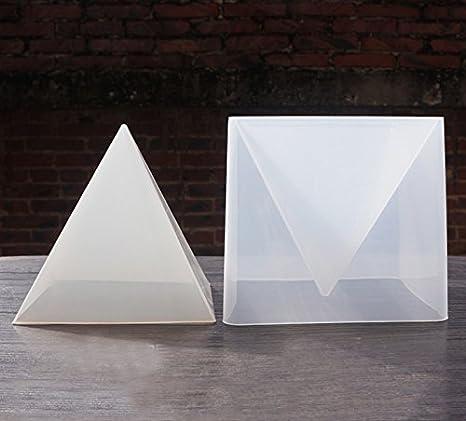 Moldes caseros de silicona para resina con forma piramidal para hacer joyería: Amazon.es: Hogar