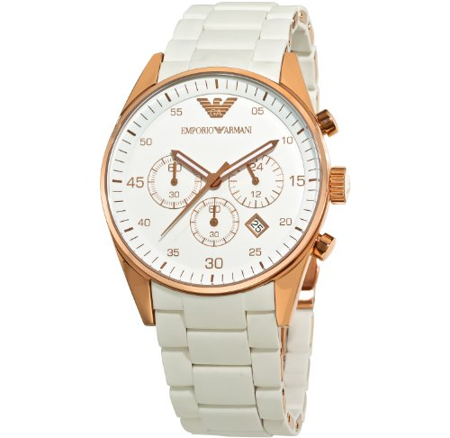 (Emporio Armani Men's AR5919 Sport White Dial Watch)