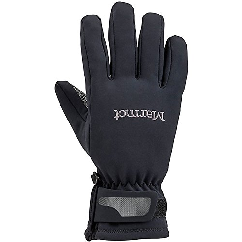 MARMOT WOMENS GLIDE SOFTSHELL GLOVE BLACK (LARGE) (Marmot Glide Soft Shell Gloves)