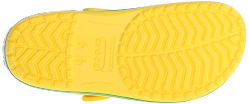 Sabots Adulte grass Mixte Green Crocband Crocs Jaune lemon p7wqxU5nz