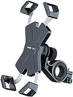Grefay Telefonhållare för Motorcykel – 360° Roterbar Justerbar Avtagbar Cykel Motorcykel Telefonmontering Kompatibel för...