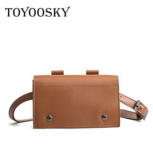 Women Waist Bag Pu Leather Belt Solid Color Phone Pouch Quality Fanny Chain Messenger Bolosa