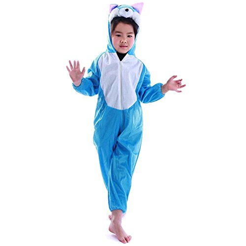 Mlotus Animal Blue CatChildren Kids Onesie Pajamas Sleepwear