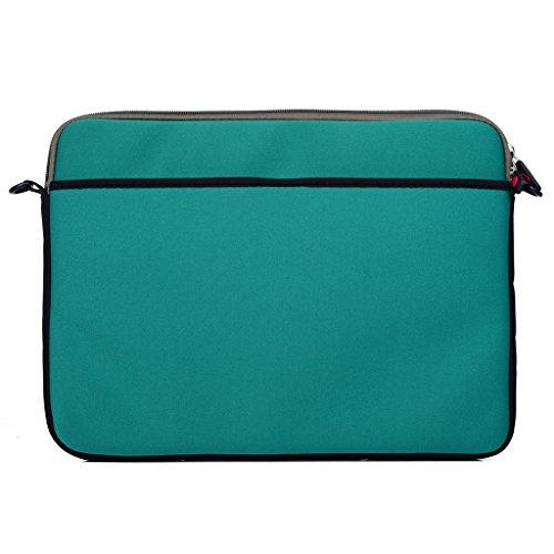Kroo Tablet/Laptop Hülle Sleeve Case mit Schultergurt für Dell Latitude E7240 rot rot grün