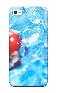 Top Quality Case Cover For Iphone 5c Case With Nice One Cherry In Ice Appearance