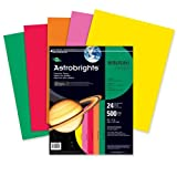 Wholesale CASE of 10 - Wausau Astrobrights Asstd 24lb Heavyweight Paper-Astro Paper, 24 Lb, 8-1/2''x11'', 500/RM, PK/RD/GN/OE/YW