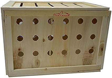 FINCA CASAREJO Caja Transporte Animales tamaño Mini M. Transportín Madera para Conejos, perdices, faisanes, gallinas y Otras Aves.