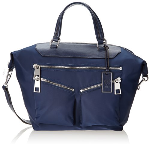 Vince Camuto Celia Nylon Satchel Top Handle Bag Rainstorm Blue One Size