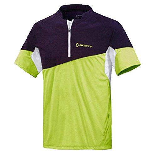 SCOTT Bikewear Mens Mind Shirt Short Sleeve Zip Neck Cycling Jersey 221576288100 (Small)