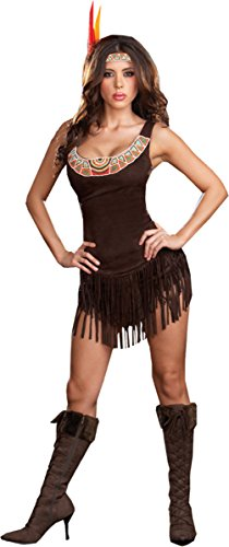 Pocahottie Costume - Plus Size 1X/2X - Dress Size (Pocahottie Adult Costumes)