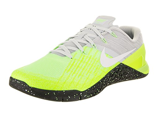 1d132b169e953 Galleon - Nike Men's Metcon 3 Pure Platinum/Black Volt Training Shoe ...
