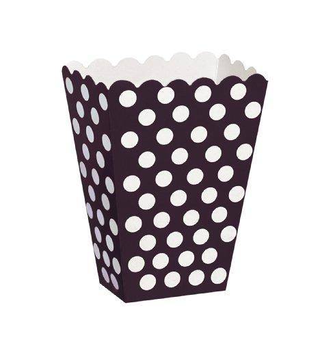 Black Polka Popcorn Treat Boxes