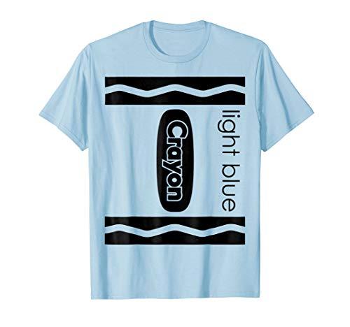 Lt Blue Crayon Halloween Couple Friend Group Costume T-shirt -
