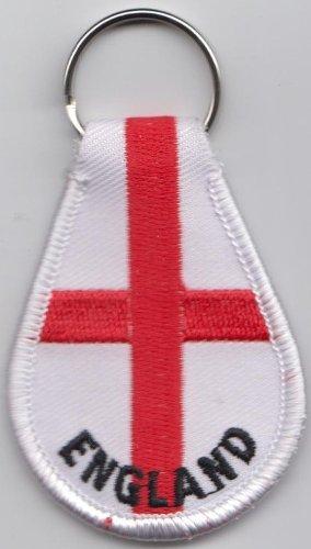 (England St George Cross Key Fob Ring (KR A238))