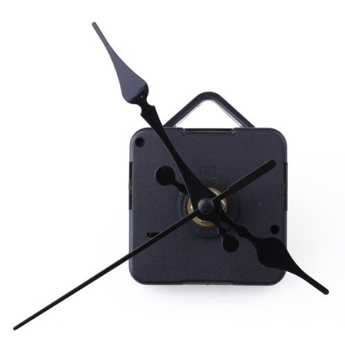 BUYEONLINE Clock Movement Mechanism With Black Hour Minute Second Hand Diy Tools Kit
