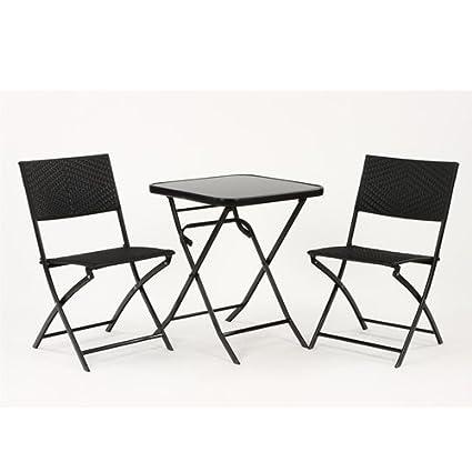 Salon de jardin - Ensemble terrasse : 1 table pliante avec plateau ...
