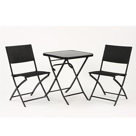 Salon de jardin - Ensemble terrasse : 1 table pliante avec ...