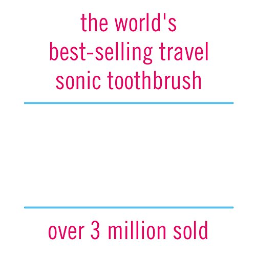 Violife Style Slim Sonic Electric Travel Toothbrush, Black, 2.5 Ounce by VIOlife (Image #2)