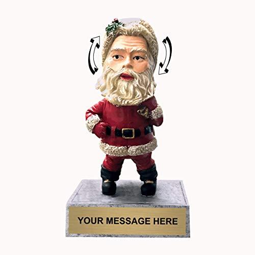 (Trophy Crunch - Customized Christmas Trophies - Santa Claus Bobblehead)