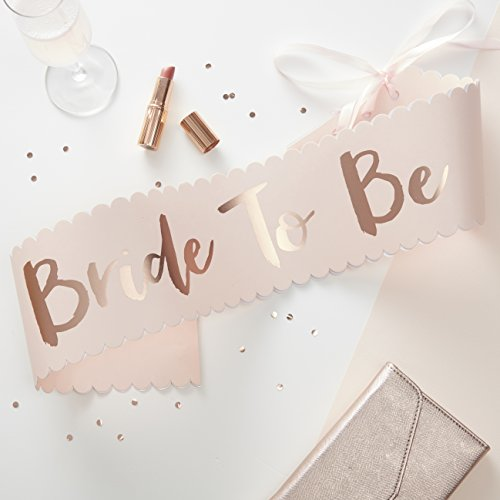 Ginger Ray Pink & Rose Gold Classy Designer Bride To Be Sash - Team Bride]()