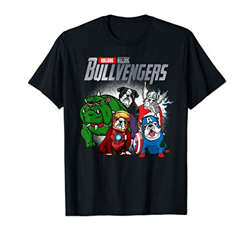 (Bulldogvengers T-shirt Funny Dog Bulldog Shirt Gift)
