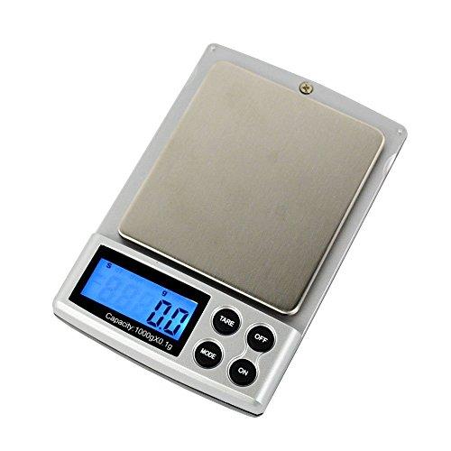STree 1000g Digital Pocket Scale Gram Jewelry Weigh Scale, Backlit Display, 0.01oz Resolution