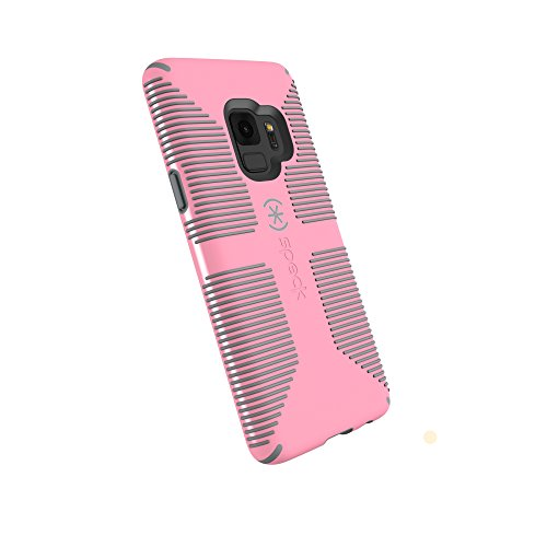 Speck Products Compatible Phone Case for Samsung Galaxy S9, Candyshell Grip Case, Island Pink/Gravel Grey